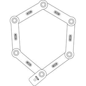 ABUS Bordo 6000/90 SH candado plegable, negro/blanco